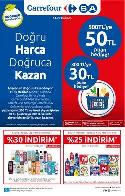 CarrefourSA broşürdeki Süpermarketler dan fırsatlar ( Dün yayınlandı)