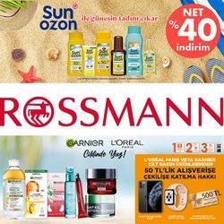 Rossmann broşürdeki Kozmetik ve Bakım dan fırsatlar ( 6 gün kaldı)