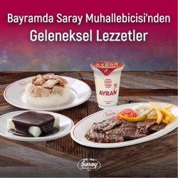 Saray Muhallebicisi broşürdeki Kafe ve Restoranlar dan fırsatlar ( Bugün son gün)