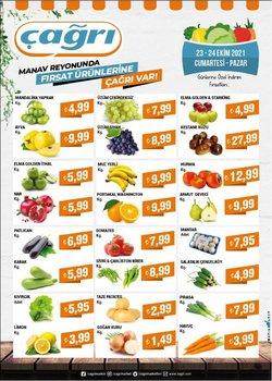 Çağrı Market broşürdeki Süpermarketler dan fırsatlar ( Bugün yayınlandı)