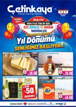 Adana Çetinkaya kataloğu ( Süresi geçmiş )