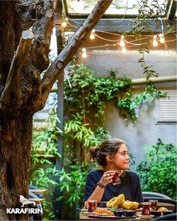 Karafırın broşürdeki Kafe ve Restoranlar dan fırsatlar ( Bugün son gün)