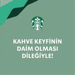 Starbucks broşürdeki Kafe ve Restoranlar dan fırsatlar ( Bugün son gün)