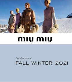 Miu Miu broşürdeki Miu Miu dan fırsatlar ( Uzun geçerlilik)