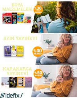 İdefix broşürdeki Kitaplar, Kırtasiyeler ve Eğitim dan fırsatlar ( 7 gün kaldı)