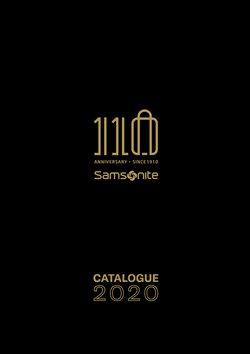 Samsonite kataloğu ( Uzun geçerlilik )