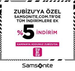 Samsonite broşürdeki Samsonite dan fırsatlar ( 9 gün kaldı)