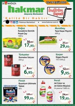 Hakmar broşürdeki Süpermarketler dan fırsatlar ( Yarın son gün)