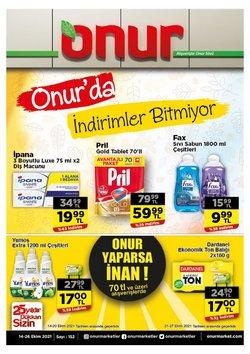 Onur Market broşürdeki Süpermarketler dan fırsatlar ( 5 gün kaldı)