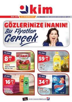 Kim Market broşürdeki Süpermarketler dan fırsatlar ( Dün yayınlandı)
