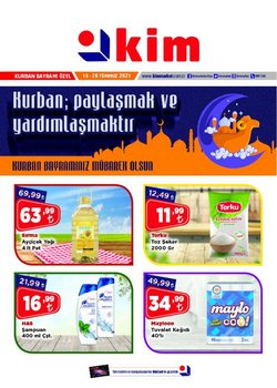 Kim Market broşürdeki Süpermarketler dan fırsatlar ( Bugün son gün)
