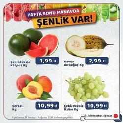 Kim Market broşürdeki Süpermarketler dan fırsatlar ( Yarın son gün)