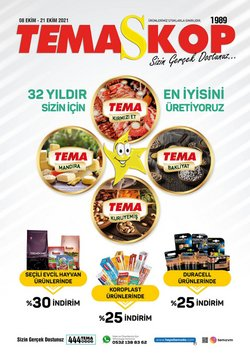 Tema Market broşürdeki Tema Market dan fırsatlar ( 4 gün kaldı)