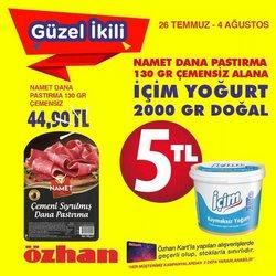 Özhan Market broşürdeki Özhan Market dan fırsatlar ( Dün yayınlandı)