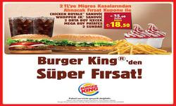 Ankara broşürdeki Burger Kingdan fırsatlar