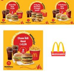 McDonald's broşürdeki Kafe ve Restoranlar dan fırsatlar ( Yarın son gün)