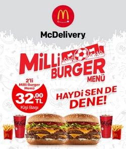 McDonald's broşürdeki McDonald's dan fırsatlar ( Dün yayınlandı)