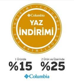 Columbia broşürdeki Spor dan fırsatlar ( Dün yayınlandı)