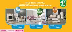 İstanbul broşürdeki Kilim Mobilyadan fırsatlar