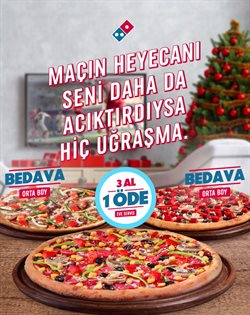 Kafe ve Restoranlar fırsatları Erzurum Domino's Pizza kataloğu ( Bugün son gün )