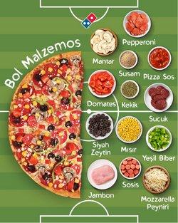 Domino's Pizza kataloğu ( Bugün yayınlandı)