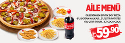 Ankara broşürdeki Pasaport Pizzadan fırsatlar