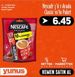 Süpermarket fırsatları İzmir Yunus Market kataloğu ( Dün yayınlandı )