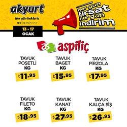 Süpermarket fırsatları İstanbul Akyurt Süpermarket kataloğu ( Bugün son gün )
