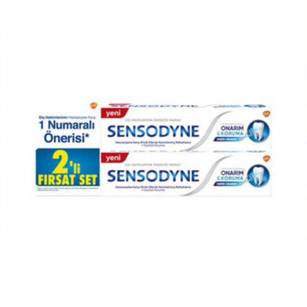 39,96 TL fiyatına Sensodyne Onarım Koruma 2X75 Ml Fırsat Paketi