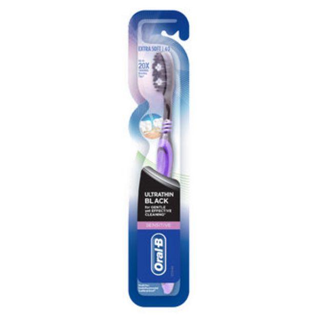 8,37 TL fiyatına Oral-B Ultra Thin Sensitive Black Diş Fırçası