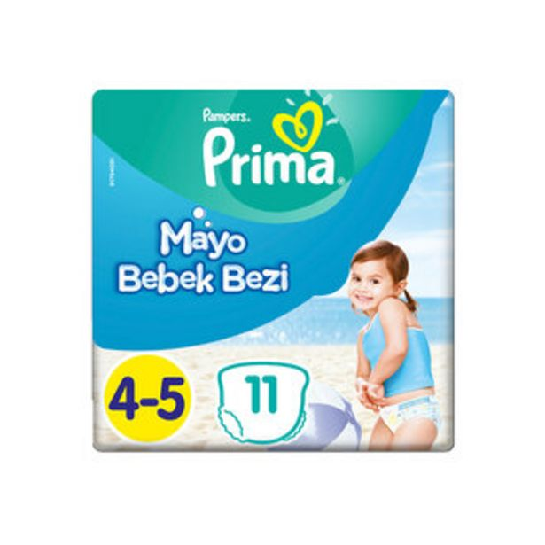 29,18 TL fiyatına Prima Mayo Bebek Bezi 4-5 No 11'li