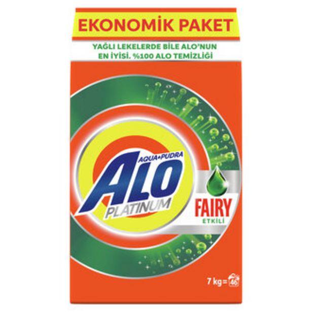 68,9 TL fiyatına Alo Platinum Fairy Etkili AquaPudra Çamaşır Deterjanı 7 Kg