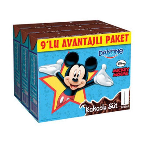 18,71 TL fiyatına Danone Disney Kakaolu Süt 9X180 Ml