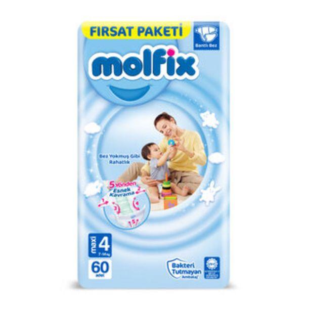 71,45 TL fiyatına Molfix Bebek Bezi Maxi 60'lı Fırsat Paketi 3D
