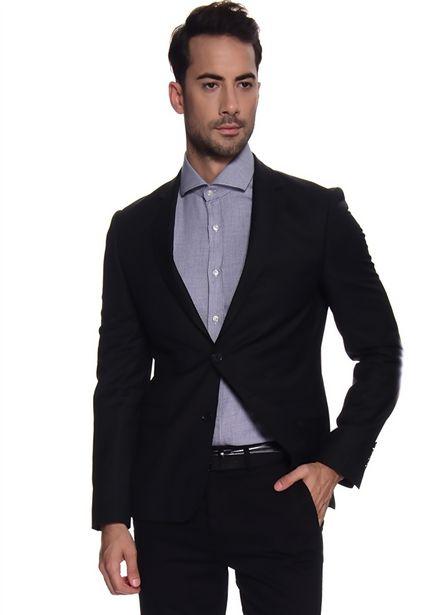 199,99 TL fiyatına Cotton Bar Polyester Uzun Kollu Siyah Erkek Ceket