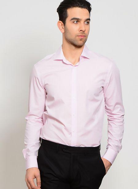 99,99 TL fiyatına Cotton Bar Uzun Kollu Pembe Gömlek