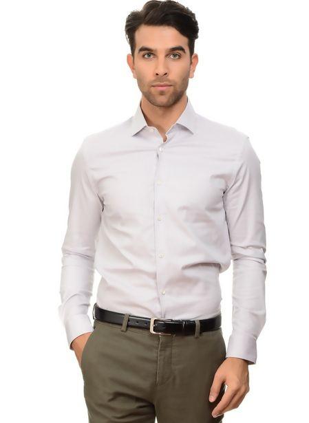 69,99 TL fiyatına Cotton Bar Gri Slim Fit Gömlek