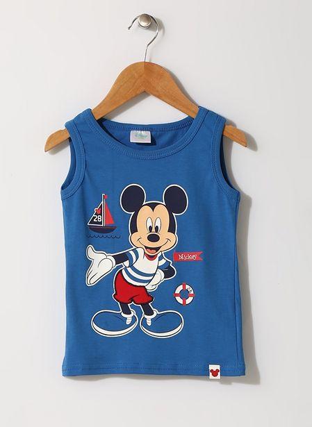29,99 TL fiyatına Mammaramma Erkek Çocuk Mickey Mouse Baskılı Mavi İç Giyim Atlet