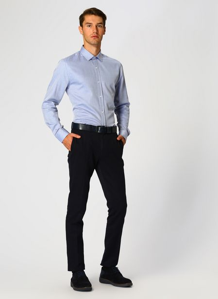 129,99 TL fiyatına Cotton Bar Lacivert Klasik Pantolon