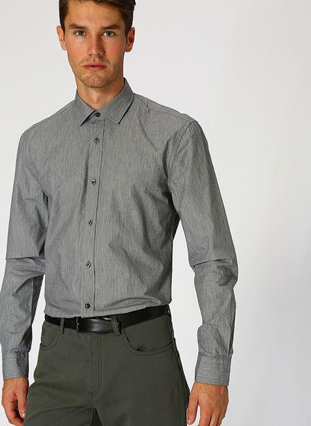 79,99 TL fiyatına Cotton Bar Slim Fit Antrasit Gömlek