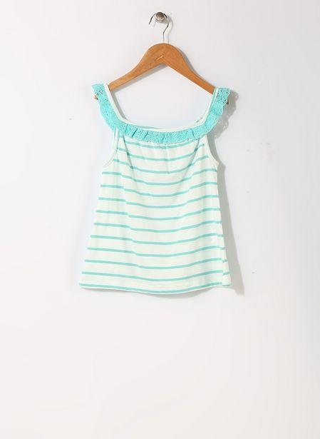 29,99 TL fiyatına Limon Dantel Yaka Yeşil - Beyaz İç Giyim Atlet