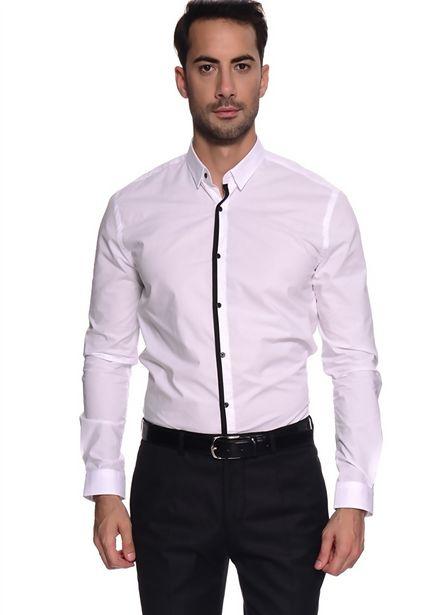 69,99 TL fiyatına Penford Slim Fit Beyaz Gömlek