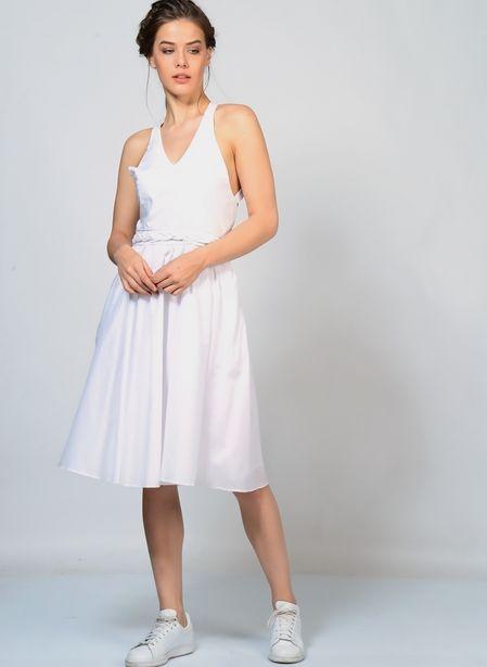 559,99 TL fiyatına Brigitte Bardot Beyaz Kadın Elbise