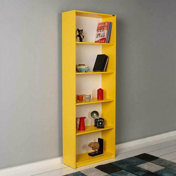 479,9 TL fiyatına Adore Modern KTP-350-HH-1 5 Raflı Kitaplık Sarı