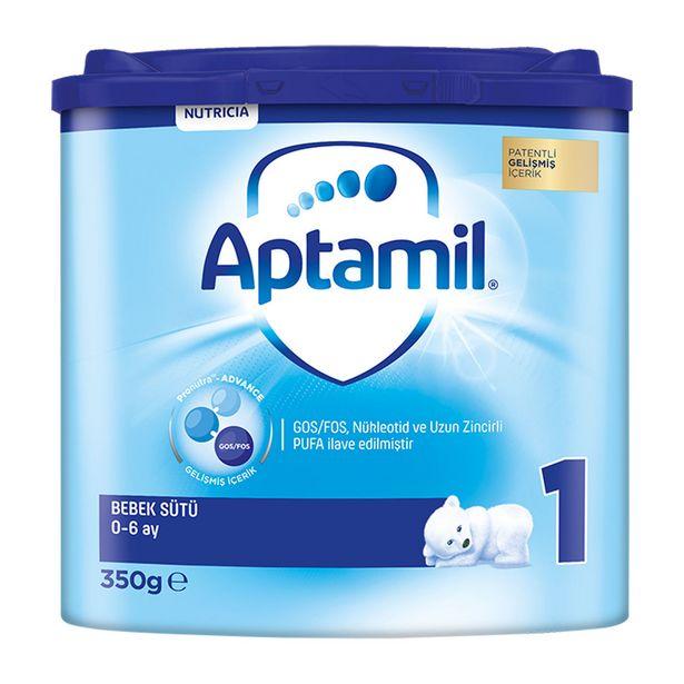 82,99 TL fiyatına Milupa Aptamil 1 Bebek Sütü 0-6 Ay 350 gr
