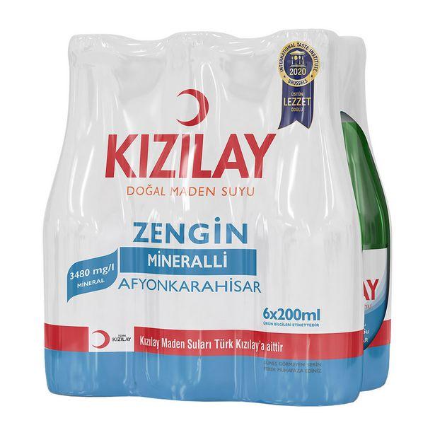 4,99 TL fiyatına Kızılay Maden Suyu 6X200 ml