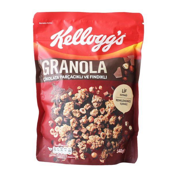 14,99 TL fiyatına Kelloggs Granola Çikolata Fındık 340 gr