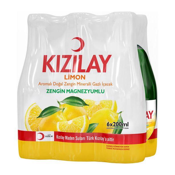 7,49 TL fiyatına Kızılay Maden Suyu Limonlu 6X200 ml