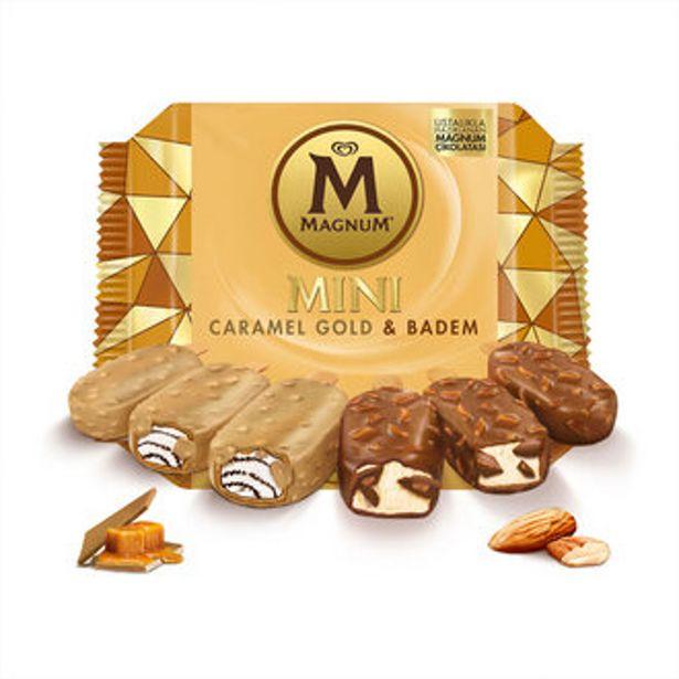 19,5 TL fiyatına MAGNUM MİNİ BADEM KARAMEL GOLD 345 ML