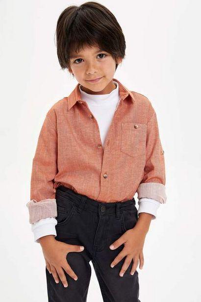 29,99 TL fiyatına Erkek Çocuk Polo Pamuklu Uzun Kollu Gömlek